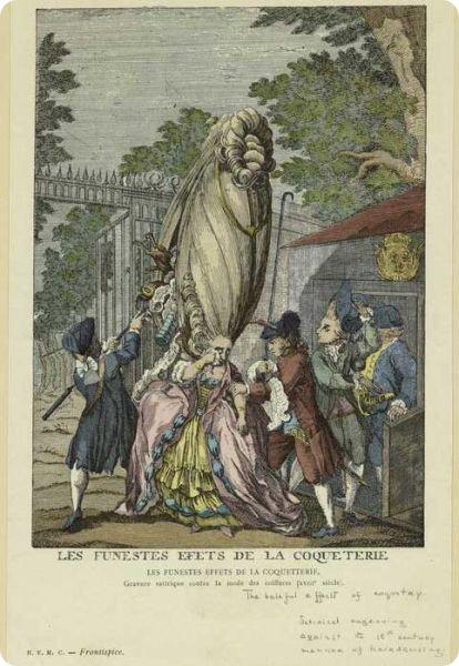 Прически XVIII века