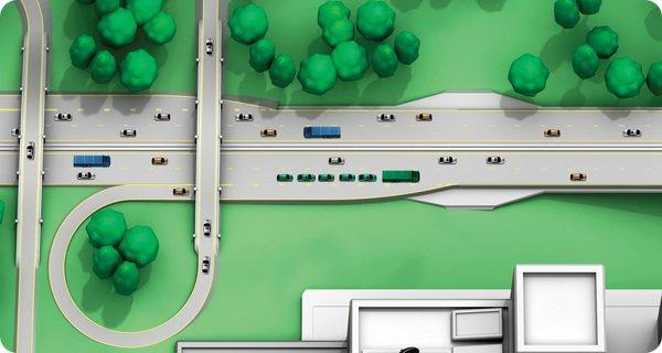 Система автономных автопоездов