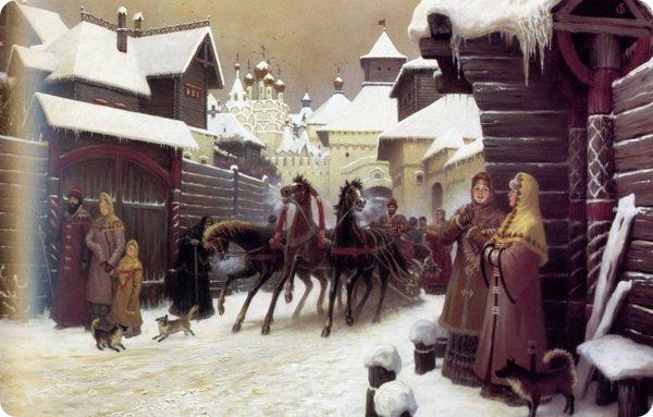 Жизнь русских баб в старину