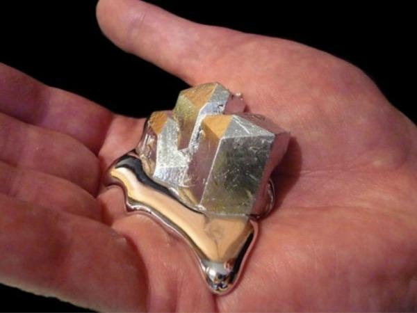 Галлий: металл, который тает в руках
