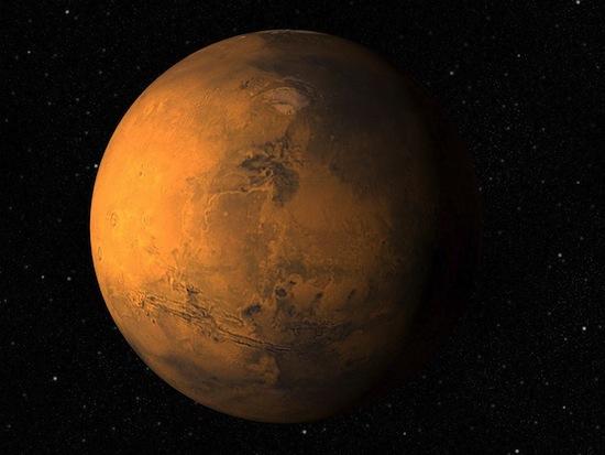 На Марсе вода тяжелее земной