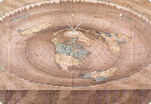 Последняя карта плоской Земли