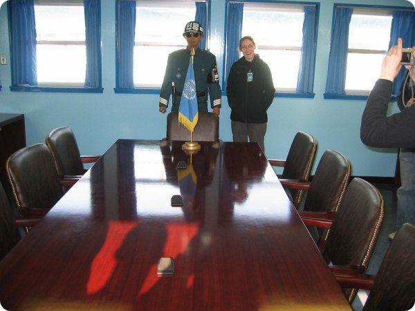 Стол на корейской границе