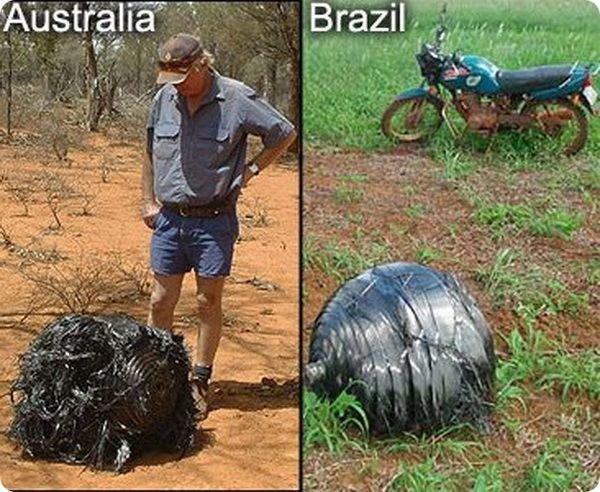 В Намибии упал загадочный шар из Космоса
