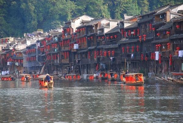 Красивый городок Китая: Фэнхуан