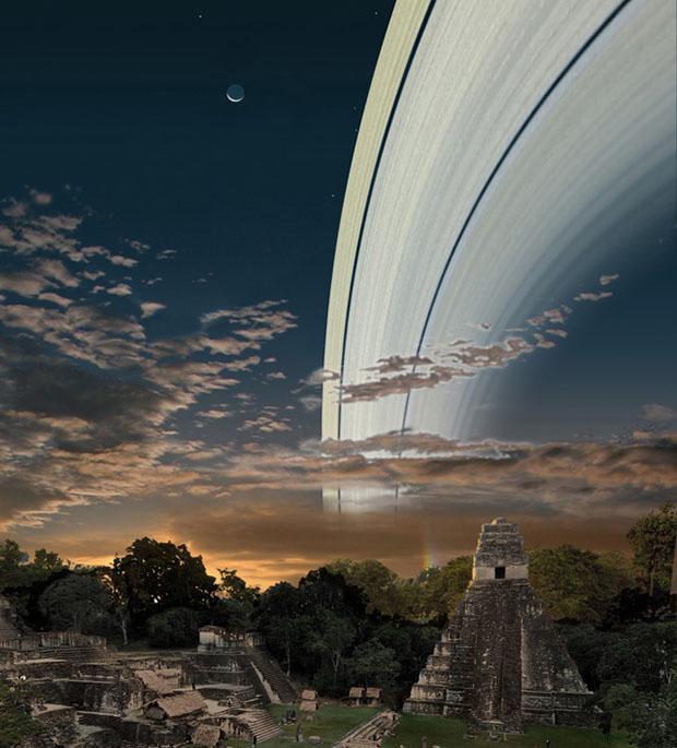 Если бы у Земли были кольца как у Сатурна