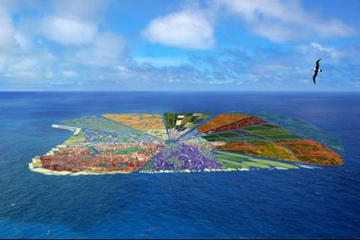 Recycled Island: остров из мусора прямо в океане