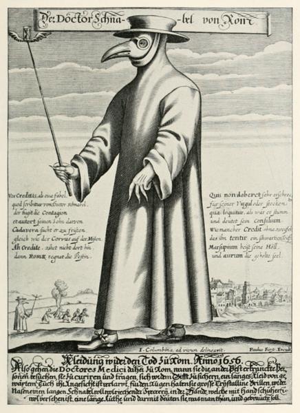 Врачеватель чумы в Средневековье