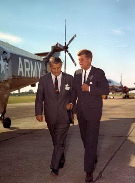 фон Браун с президентом Кеннеди, 1963